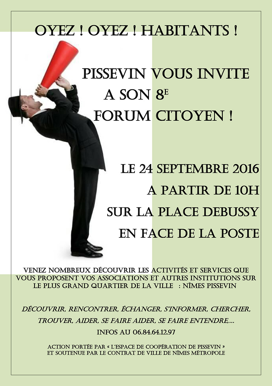 FORUM ASSOCIATIF QUARTIER PISSEVIN